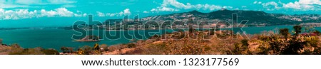 Panoramic view landscape