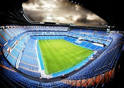 panoramic view of a football stadium with dramatic feel