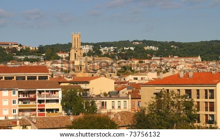 Panoramic view of Aix-en-Provence, France