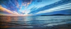 Panoramic view of Alghero shoreline. Sardinia, Italy
