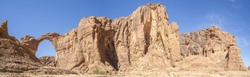 Panoramic view of Arch Aloba, Chad, Africa