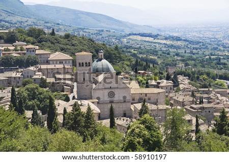Panoramic view of Assisi. Umbria.