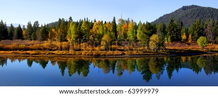 Panoramic view of Autumn landscape in Wyoming