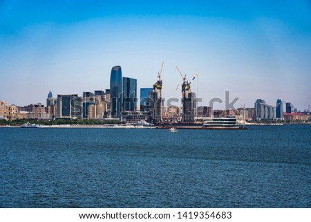 Panoramic view of Baku, Azerbaijan