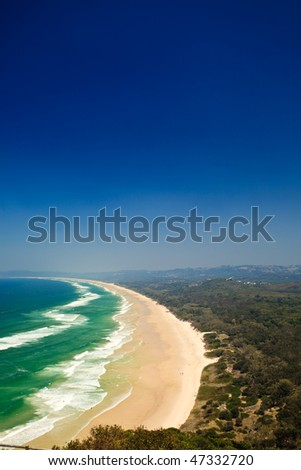 Panoramic View of Beach in Byron Bay New South Wales Australia