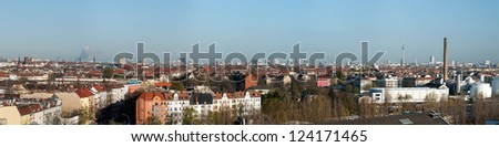 Panoramic view of Berlin, capital of Germany