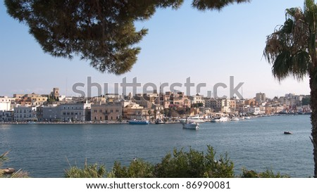 panoramic view of Brindisi waterfront, Italy