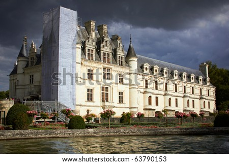 Panoramic view of Chateau de Chenonceau