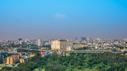 Panoramic view of Chennai, India.