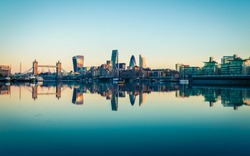 Panoramic View of City London in UK.