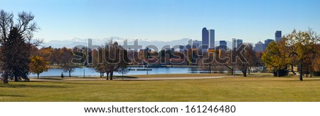 Panoramic view of City Park in Fall - Denver, Colorado