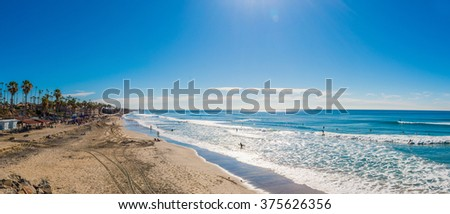 panoramic view of coastline in...