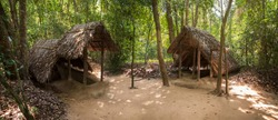 Panoramic view of Cu Chi Tunnel, famous tourist attraction in Vietnam