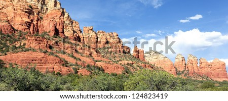 panoramic view of famous wilderness landscape near Sedona