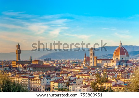 Panoramic view of Florence, Italy