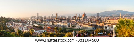 Panoramic view of Florence, Tuscany, Italy Imagine de stoc ©