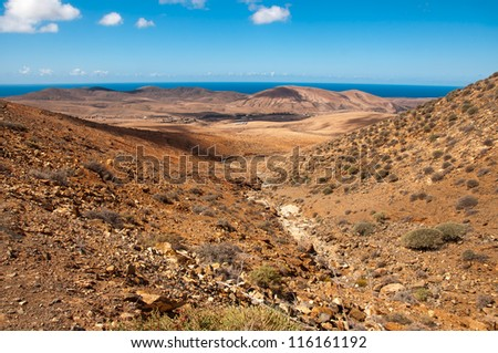 Panoramic view of Fuerteventura, Canary Islands, Spain - stock photo