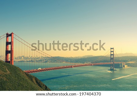 panoramic view of golden gate...