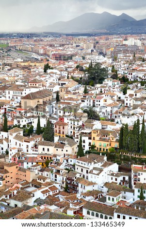 Panoramic view of Granada, Spain