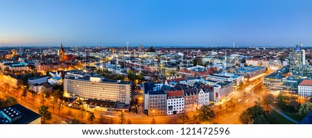 Panoramic view of Hannover, Germany