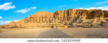 Panoramic view of Hatshepsut Temple in Luxor, Egypt Stock photo ©