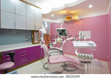 Interior Design Dental Office on Panoramic View Of Interior Of Dental Office Stock Photo 8029249