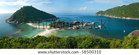 panoramic view of koh tao koh nagyuan thailand
