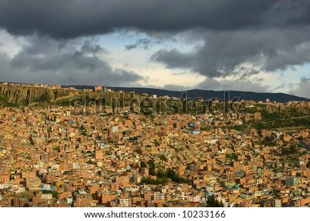 Panoramic view of La Paz, Bolivia