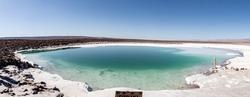 Panoramic view of Lagunas Escondidas - Atacama Desert