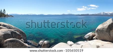 Panoramic view of Lake Tahoe in California