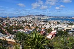 Panoramic view of Las Palmas de Gran Canaria, Canary island, Spain