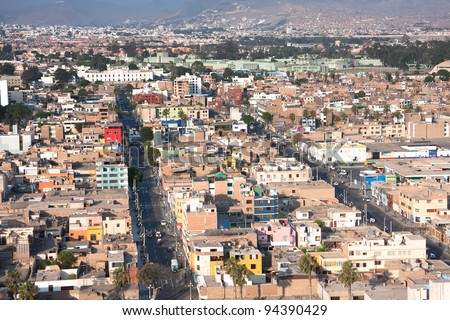panoramic view of Lima city, Peru - stock photo