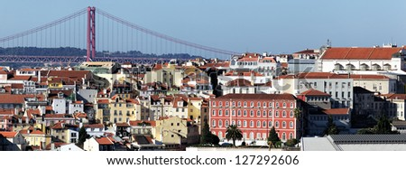 Panoramic view of Lisbon, Portugal