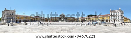 """panoramic view of Lisbon, Portugal Lisbon historical centre viewed from the Tagus """"Tejo"""" River"""