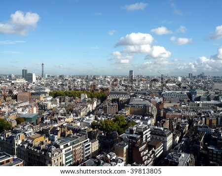 Panoramic view of London  England
