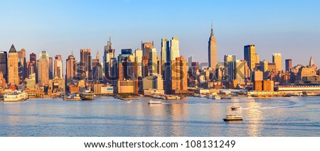 Panoramic view of Manhattan, New York