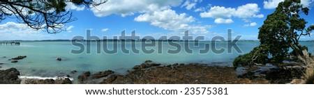 Panoramic view of Maraetai, Auckland, New Zealand