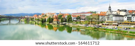 Panoramic view of Maribor city, Slovenia