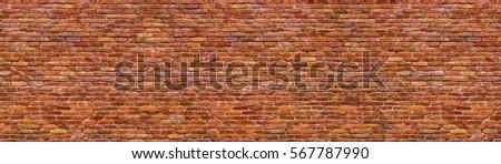 panoramic view of masonry, brick wall  background
