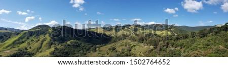 Panoramic view of Monte Verde city Minas Gerais Brazil.