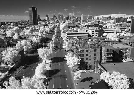Panoramic View of Montreal, Quebec.