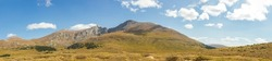 Panoramic view of Mount Bierstadt at Guanella pass in Colorado
