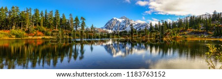 Panoramic view of Mount Shuksan, Washington-USA