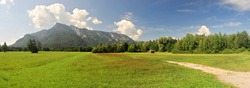 panoramic view of mountain untersberg near salzburg, austria