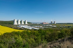 Panoramic view of Nuclear power plant Mochovce.
