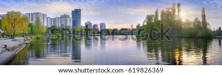 panoramic view of Offenbach city
