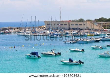 Panoramic view of Otranto. Puglia. Italy. - stock photo