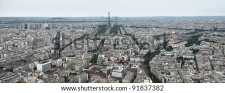 Panoramic View of Paris from Tour Montparnasse