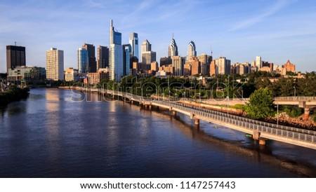 Panoramic view of Philadelphia skyline #1147257443