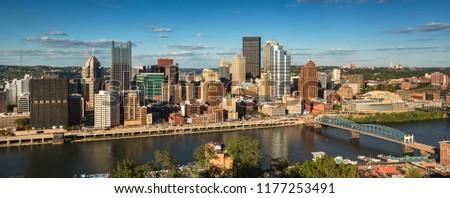 Panoramic view of Pittsburgh Pennsylvania #1177253491